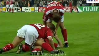 Brazil vs Denmark Quarter finals World cup 1998