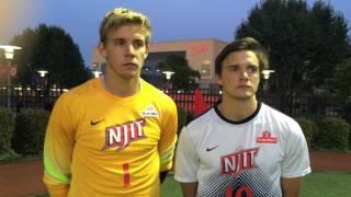 NJIT's Christian Foust & Joshua Mercer Navy Post Game