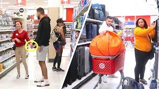 HOLDING WORKER'S HANDS IN PUBLIC! (CRAZY DARES AT TARGET)