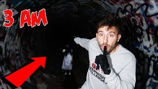 FAZE RUG TUNNEL AT 3 AM CHALLENGE! | WE HEARD A GIRL!!