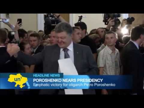 President Poroshenko: Exit polls say 'Chocolate King' Petro Poroshenko wins presidential election