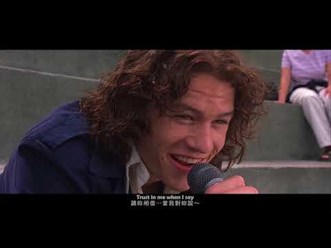 Heath Ledger singing (Can't take my eyes off you)_希斯萊傑-深情開唱_(對面惡女看過來)1999