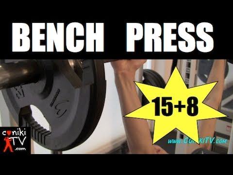 BARBELL BENCH CHEST PRESS 15+8 TEEN MUSCLE BODYBUILDING WORKOUT