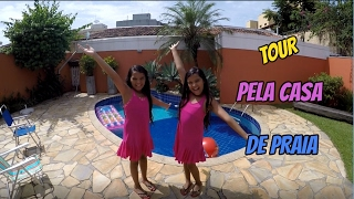 TOUR PELA CASA DE PRAIA - DIÁRIO DAS GÊMEAS