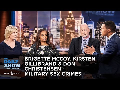 BriGette McCoy, Kirsten Gillibrand & Don Christensen - Military Sex Crimes | The Daily Show thumbnail