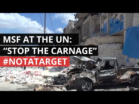 #NotATarget | MSF President delivers powerful message to UN security Council