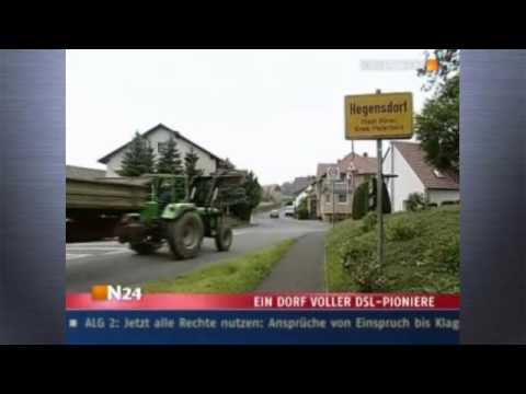 Ein Dorf grbt gemeinsam 1300 Meter um DSL zu bekommen (NTV)