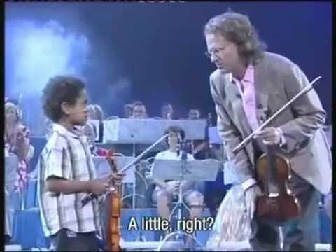 Andre Rieu and  Akim Camara aged 5 in New York 2007
