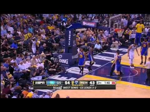 NBA, playoff 2015, Warriors vs. Grizzlies, Round 2, Game 6, Move 23, Zach Randolph, foul