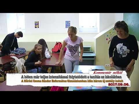 Hajdúnánási Televízió: Tanítás a Kőrösi Csoma Sándor Református Gimnáziumban 2017.09.06.