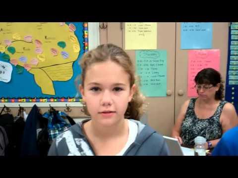 Je m'appelle et je mesure Classes de 6e au Green Street School octobre 2012