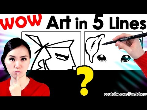 New Art | Amazing Art Work In 5 Lines! | Mei Yu