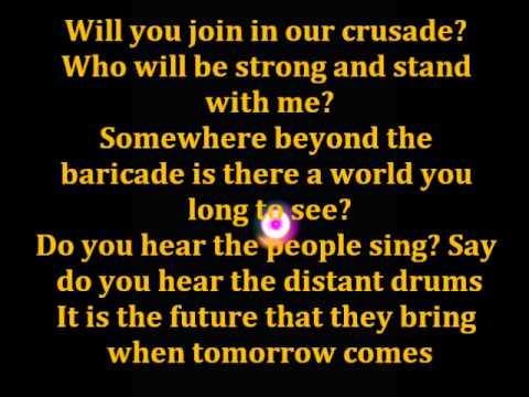 Les Miserables Epilogue (Do you hear the people sing?) Lyrics