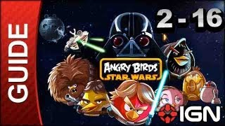 Angry Birds Star Wars_ Death Star Level 2-16 3 Star Walkthrough