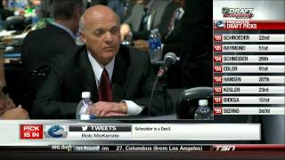 Canucks Trade Cory Schneider and Select Bo Horvat 06/30/13 [HD]
