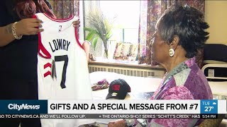 Raptors fan, 92, receives special message from Kyle Lowry