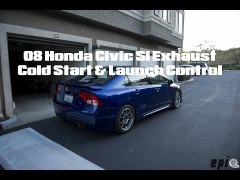 08 Honda Civic SI Skunk2 Full Exhaust Cold Start and Launch Control (HD)