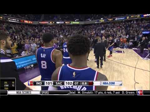 Carl Landry game-winner in overtime: Indiana Pacers at Sacramento Kings