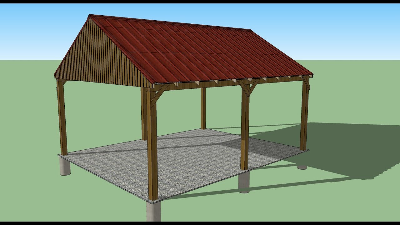 16x20 Carport Design Shed Plans Stout Shedsllc Youtube