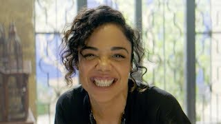 Watch Tessa Thompson LOSE IT in the Men in Black: International Bloopers! (Exclusive)