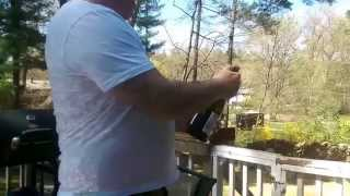 How to pop a champagne cork