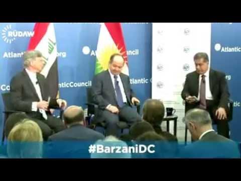 kurdistan president masoud barzani in usa 06/05/2015! kurdistan baskani amarikada