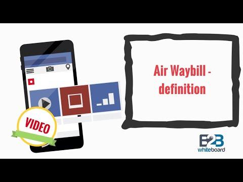 Header of air waybill