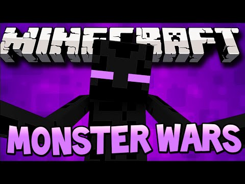 Minecraft 1.8: MONSTER INDUSTRY WARS! (Minecraft Real Time Strategy Game) - w/Lachlan & Preston