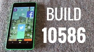 Windows 10 Mobile Preview Build 10586, novedades en español