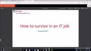 Yang Bin(杨斌)—IT求职,第一个IT专业工作,如何才能活下来?(How to survive in your first IT job)