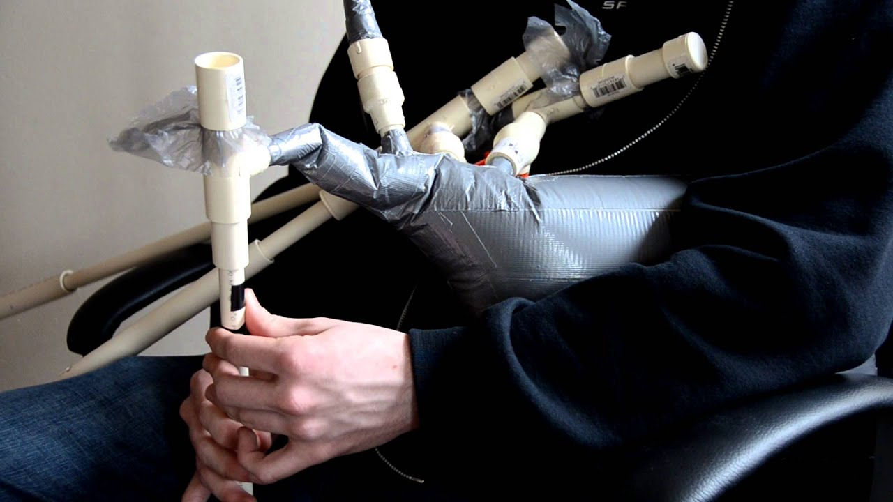 Mcgyver D Improved Duct Tape And Pvc Bagpipes Youtube