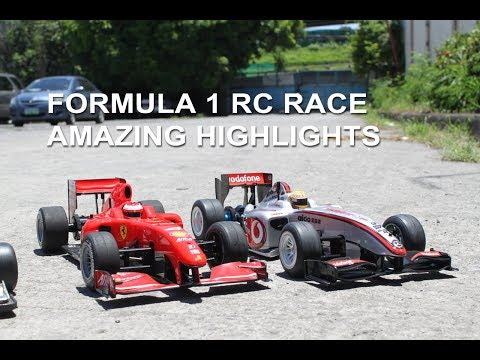 17 F1 RC Cars Racing Simultaneously - Radio Control Formula One Race