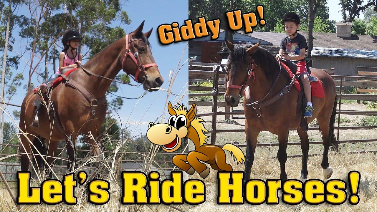 GIDDY UP! EvanTubeHD Goes Horseback Riding!