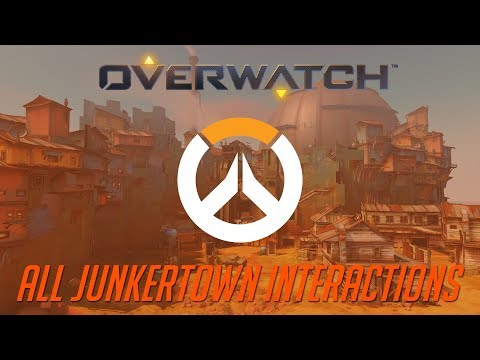 Overwatch - All Junkertown Interactions