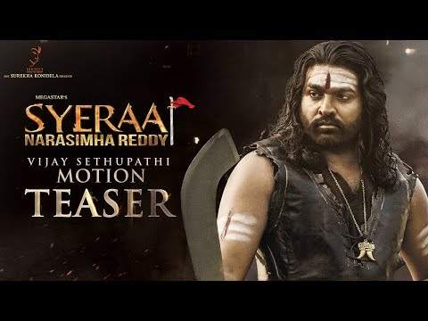 Vijay Sethupathi Motion Teaser   Sye Raa Narasimha Reddy   Chiranjeevi   Ram Charan   Surender Reddy