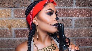 Gangster Clown Skull Tutorial | MakeupShayla