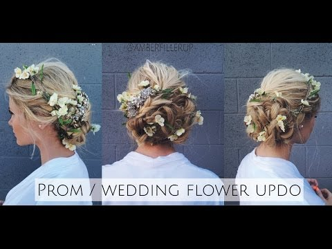 Prom/Wedding Braided Flower Up-do Inspired by Dolce & Gabbana Runway