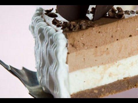 Торт три шоколада творожный