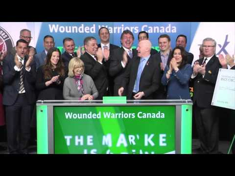 Wounded Warriors Canada opens Toronto Stock Exchange, March 23, 2016