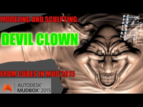 Modeling a Devil Clown from Cubes in Mudbox 2015