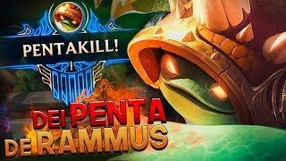 O DIA EM QUE DEI PENTA KILL DE RAMMUS! - RAMMUS JUNGLE GAMEPLAY - RodiL