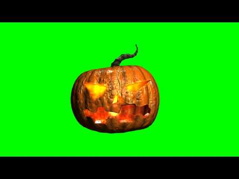 pumpkin with a candle - halloween - free green screen effects - bestgreenscreen thumbnail