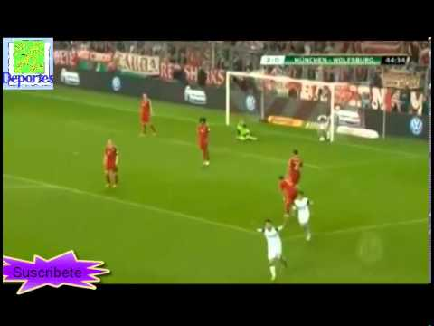 bayern munich vs wolfsburg 6-1 16/04/2013 all gol