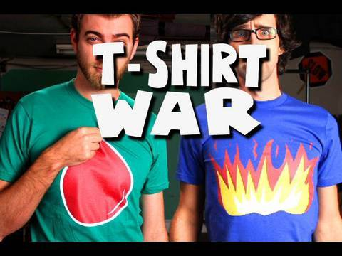 T-SHIRT WAR!! (stop-motion) - Rhett &amp; Link