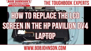 How to replace the LCD Screen in the HP Pavilion DV4 Laptop