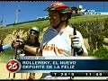 cross skate / roller / patin todoterreno / TV Argentina Mar del Plata