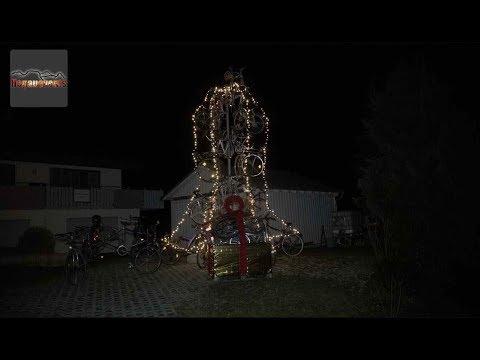 Der Fahrrad Weihnachtsbaum in Tengen 14.12.2018
