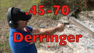 .45-70 M4 Alaskan Survival Derringer Shooting