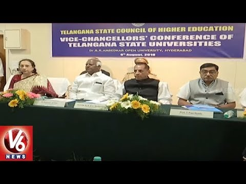 Governor Narasimhan And Kadiyam Srihari Review Meet With University VC's | V6 News