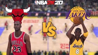 NBA 2K20 - '95-'96 Chicago Bulls vs. '03-'04 Los Angeles Lakers - Full Gameplay (1080P 60FPS HD!)